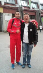 Sanjin s trenerom Eregom