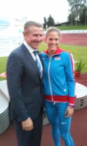 Sergey Bubka i Paola Borović