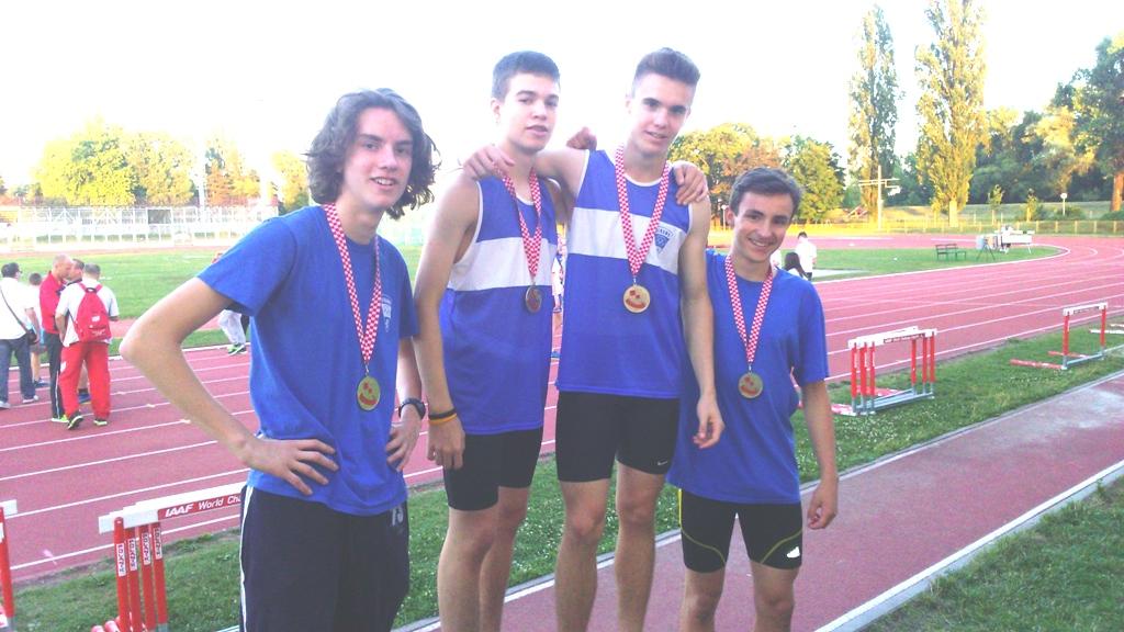 Najuvjerljivija pobjeda u štafeti, 4x 300m, Cesar, Baudoin, Bilman i Svirač