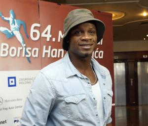 Zagreb, 29.08.2014 - Atletika: Poznati jamajcanski atleticar Asafa Powell stigao na Hanzek